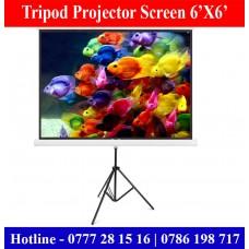 6X6 Tripod Projector Screens sale Price Colombo, Sri Lanka